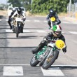 Stock Photo: Competition of classic motorbikes