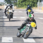 Competition of classic motorbikes — Stock Photo