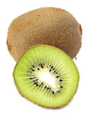 Sectioned kiwi isolated on white base — Stock Photo