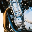 Modern motorcycle engine — Stock Photo
