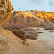 "Stock Photo: Arid land in desert of ""Bardenas"". Nature reserve and th"