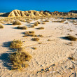 "Arid land in the desert of ""The Bardenas"". Nature reserve and th — Stock Photo"