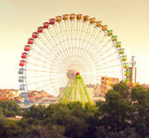 Fair Ferris wheel — Stock fotografie