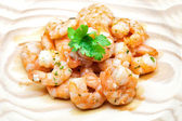 Cooked scampi — Stock Photo