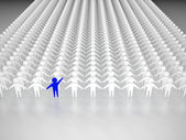 One person standing out from the crowd — Stock Photo