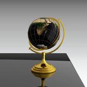 Globe on table — Stock Photo