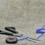 Абстракция с ножницами — Stock Photo