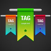 Flag Tag Illustration — Stock Vector