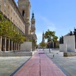 Square of the Pillar in Saragossa — Stock Photo