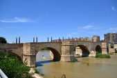 Stone bridge in Saragossa — Stock Photo