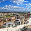 Aerial view of Lleida - Stock Photo