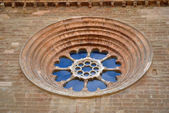 Rosette of the Cathedral of St. Mary of La Seu Vella — Stock Photo