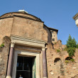 Temple of Romulus in the Roman forum - Stock Photo
