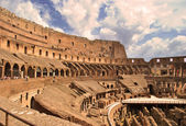 Inside the Roman Colosseum — Stock Photo