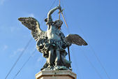 Angel crowning the Castel Sant Angelo — Stock Photo
