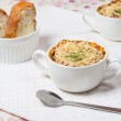 Onion soup in french style — Stock Photo #10963836