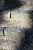 Rustikale Steintreppe Szene — Stockfoto