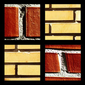 Instant group of bricks — Stock Photo