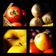Stock Photo: Gastronomic collage expressing fruit and vegetable