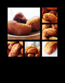 Gastronomic collage expressing croquettes and bread — Stock Photo