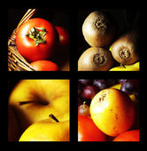 Gastronomic collage expressing fruit and vegetable — Stock Photo