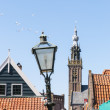 Lamp post in Edam — Stock Photo