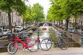 Bicyles in Amsterdam — Stock Photo