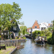 Stock Photo: EDAM, HOLLAND - MAY 28: Detail of one of canal that cross th