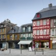 Medieval and colored houses in Brittany, France — Stock Photo