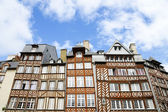 Medieval houses in Rennes, France — Stock Photo