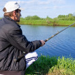 Amateur fisherman — Stock Photo