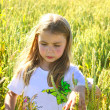 Girl in a field — Stock Photo #11920995
