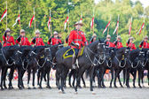 Royal Canadian Mounted Police Musical Ride — Stock Photo