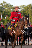 Royal Canadian Mounted police Musical Ride Commander — Stock Photo