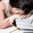 Asleep while studying — Stock Photo