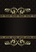 Vintage background golden frame — Stock Vector