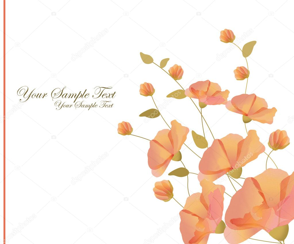 Beautiful decorative framework with flowers — Imagen vectorial #11008149