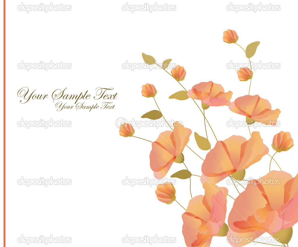 Beautiful decorative framework with flowers  Stockvectorbeeld #11008149