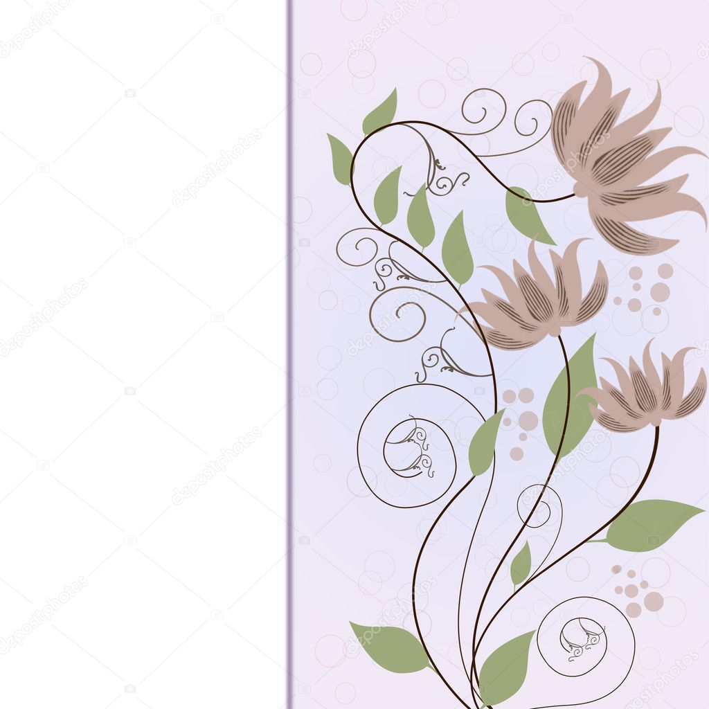 Beautiful decorative framework with flowers.  Imagen vectorial #11019583