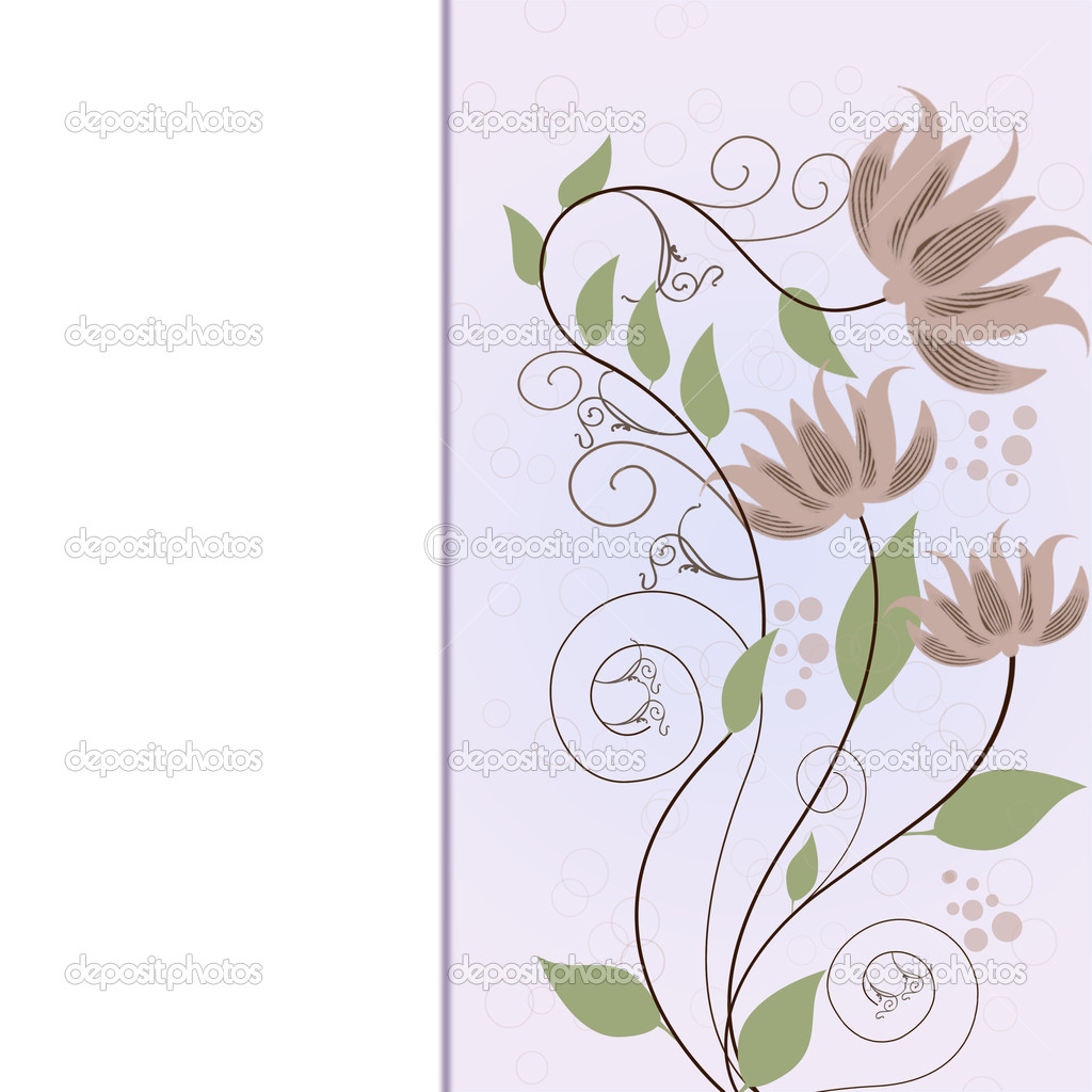 Beautiful decorative framework with flowers. — Stockvectorbeeld #11019583