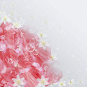 Pink roses and bubbles. — Stock Photo