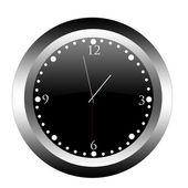 Black clock. — Stock Vector