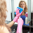 Bright woman lokking in a mirror — Stock Photo #10820310