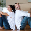 Delighted couple moving house — Stock Photo #10821105
