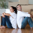 Stock Photo: Loving couple relaxing