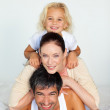 Father, mother and daughter — Stock Photo