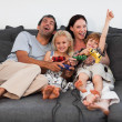 Family playing in the living room — Stock Photo #10821575