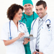 Team of confident doctors — Stock fotografie