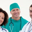 Friendly looking medical team — Stock Photo