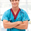 Young confident doctor looking at camera — Stock Photo #10822042